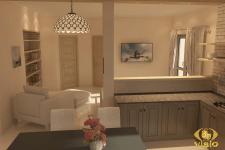 3Д-визуализация кухни в Греции